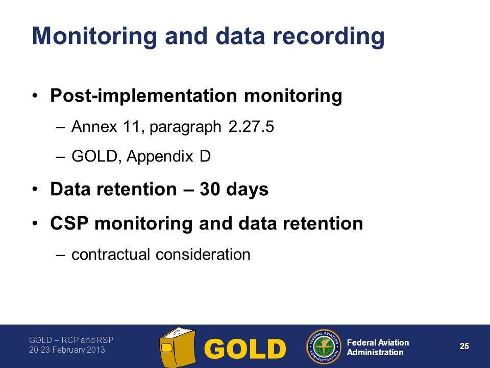 Monitoring and data recording