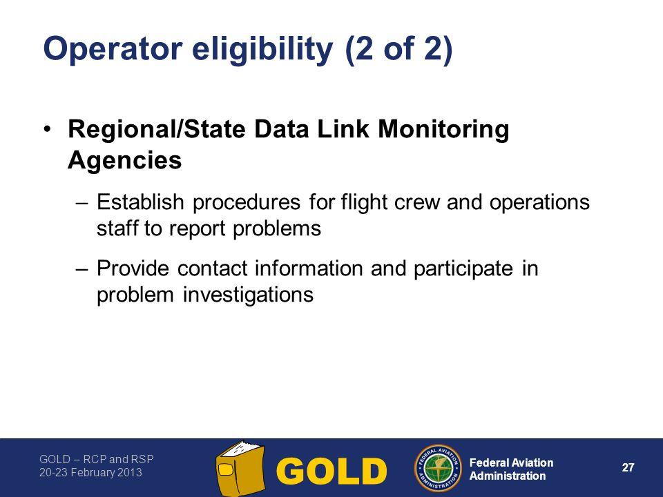 Operator eligibility (2 of 2)