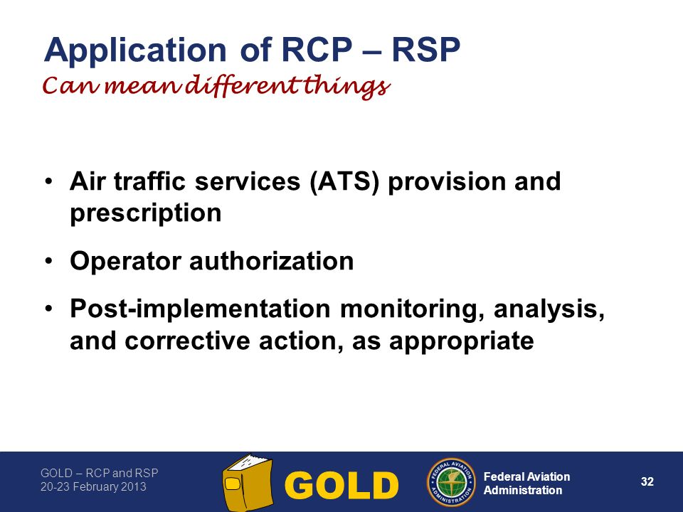 Application of RCP – RSP