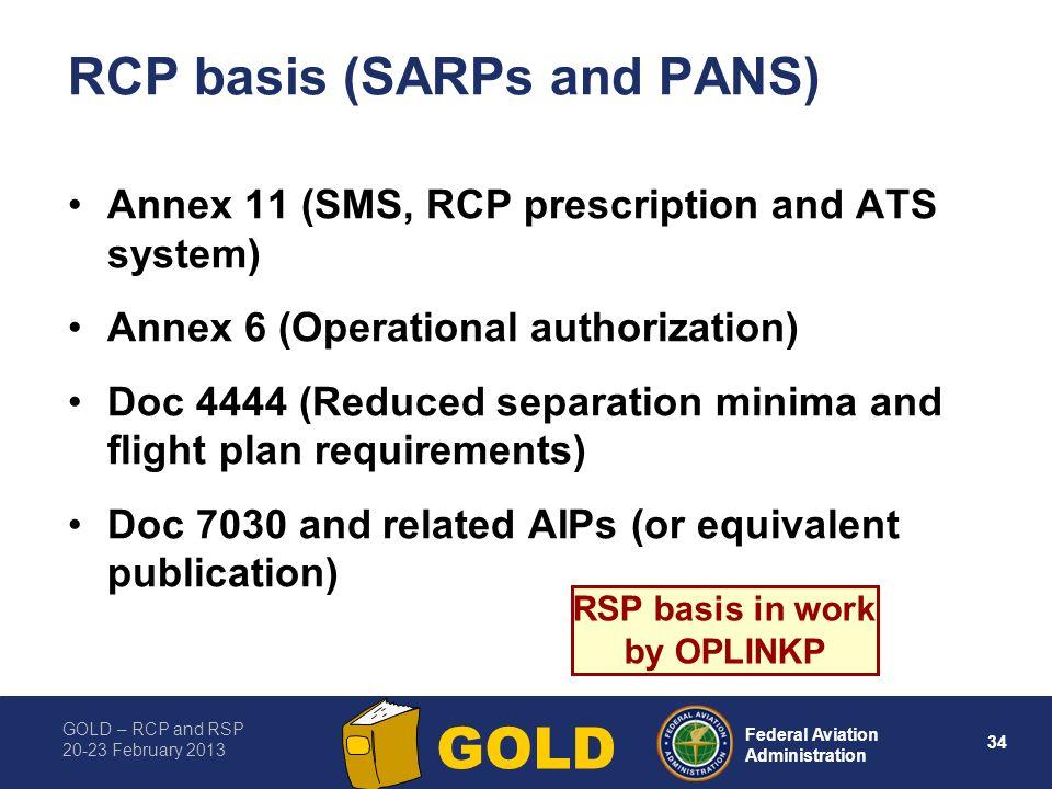 RCP basis (SARPs and PANS)