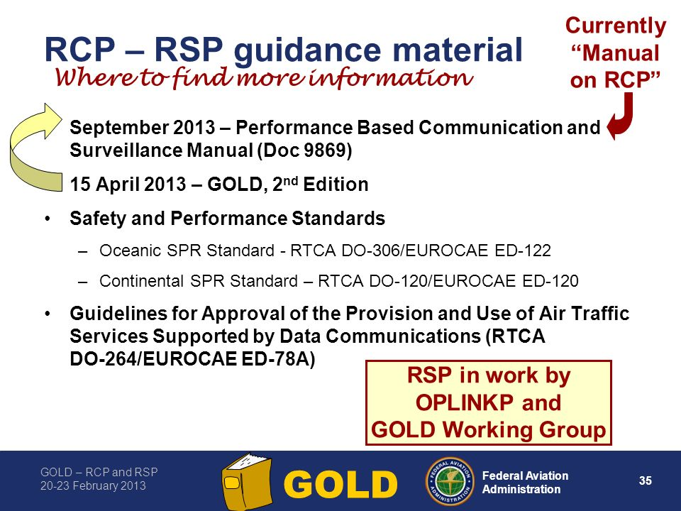 RCP – RSP guidance material