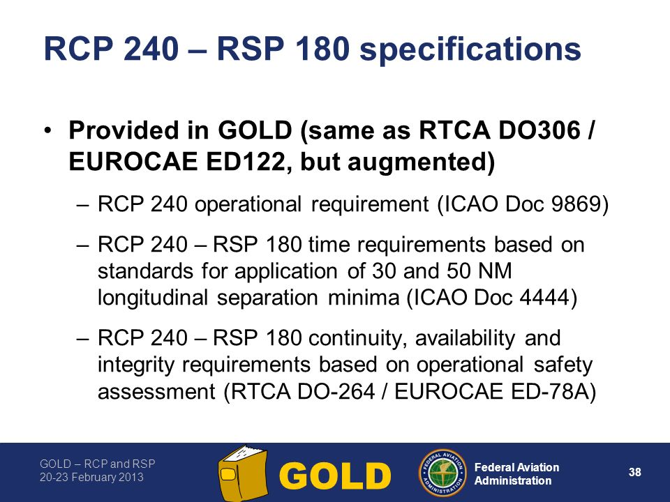 RCP 240 – RSP 180 specifications