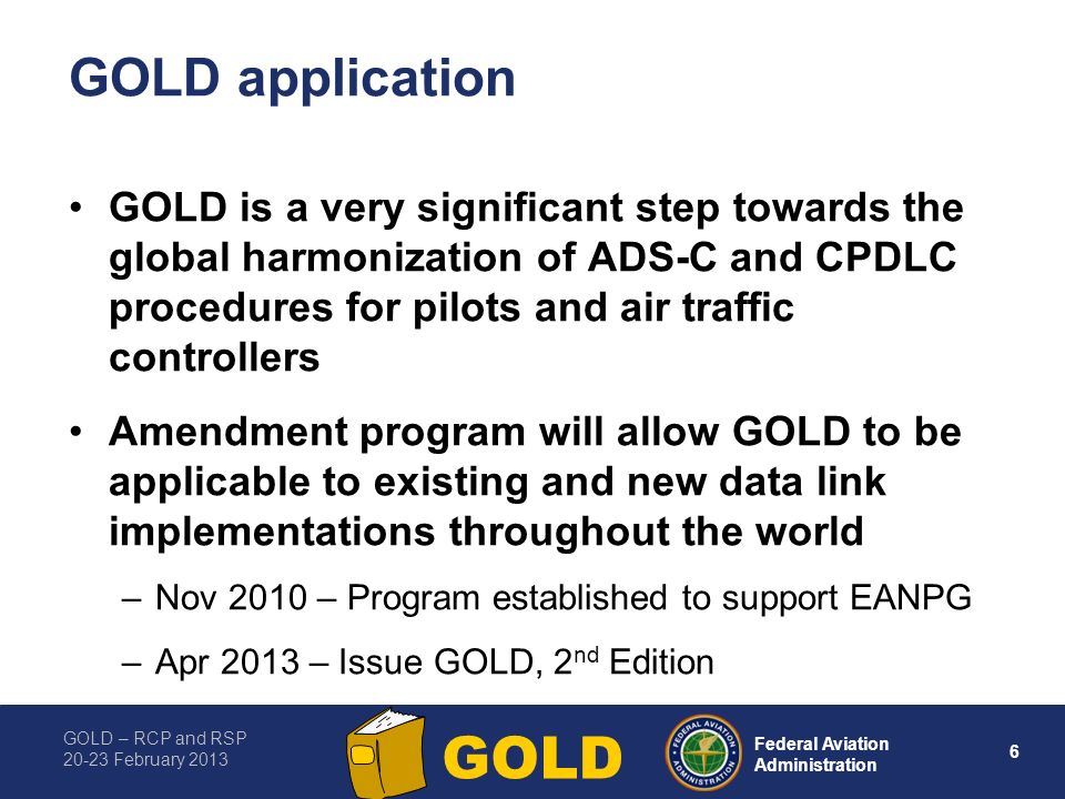 GOLD application