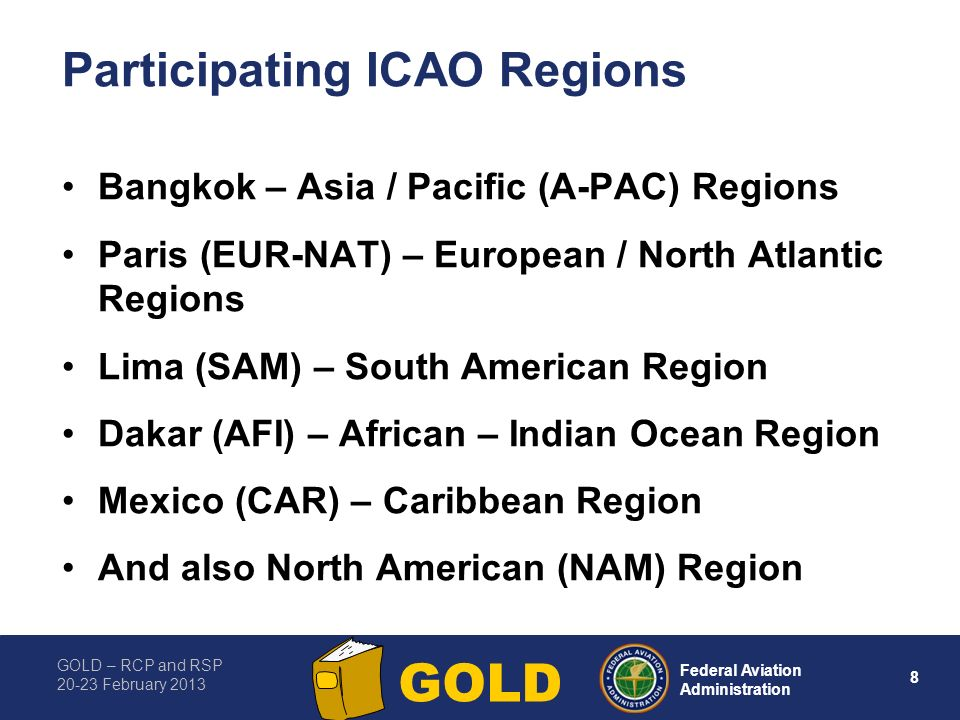 Participating ICAO Regions
