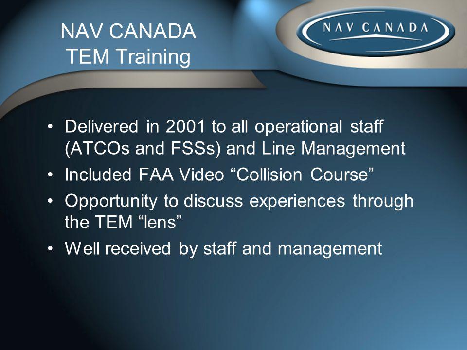 NAV CANADA TEM Training