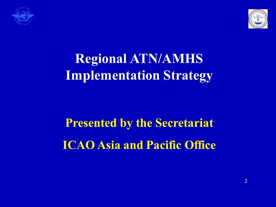 Regional ATN/AMHS Implementation Strategy