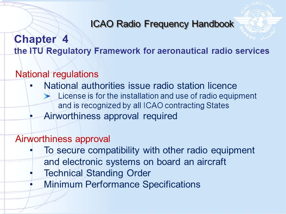 ICAO Radio Frequency Handbook
