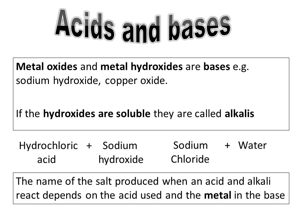 metal oxides and water make bases of dating