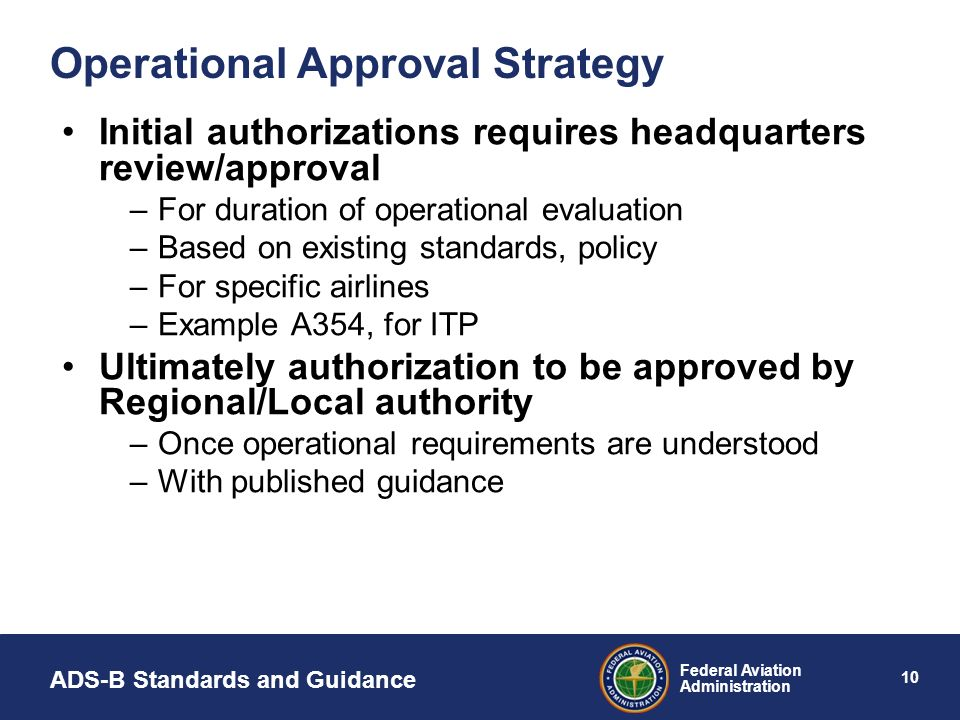 Operational Approval Strategy