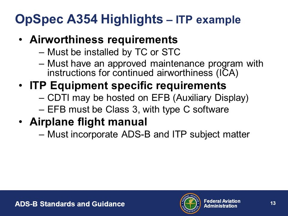 OpSpec A354 Highlights – ITP example