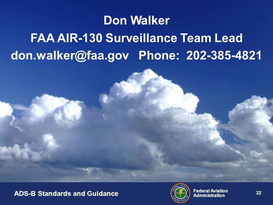 FAA AIR-130 Surveillance Team Lead