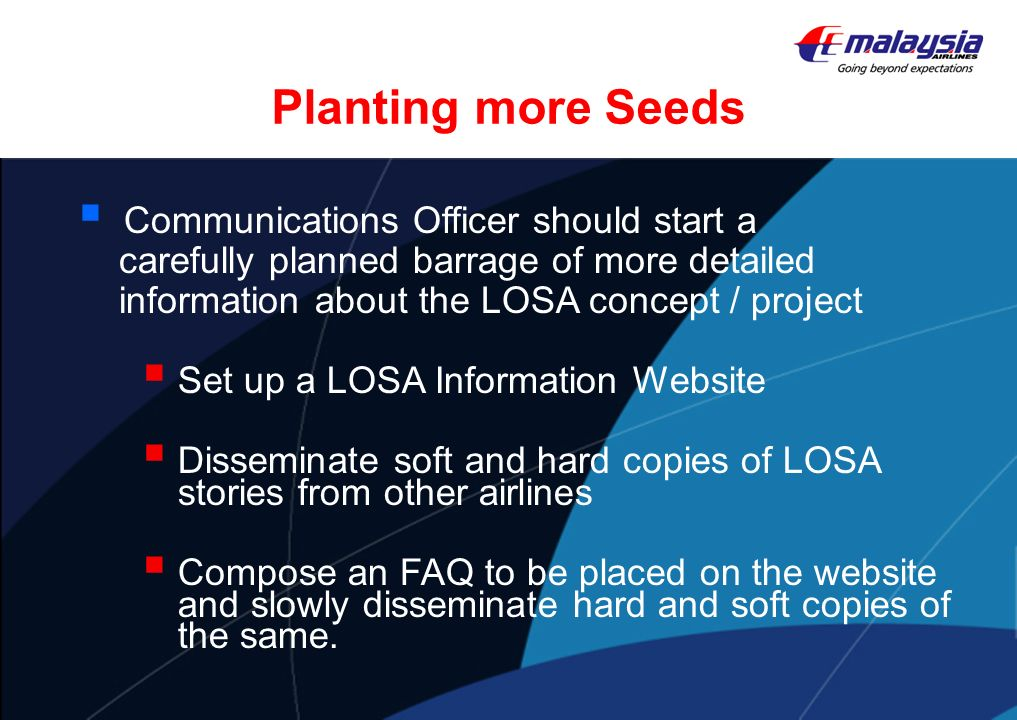 Planting more Seeds Communications Officer should start a