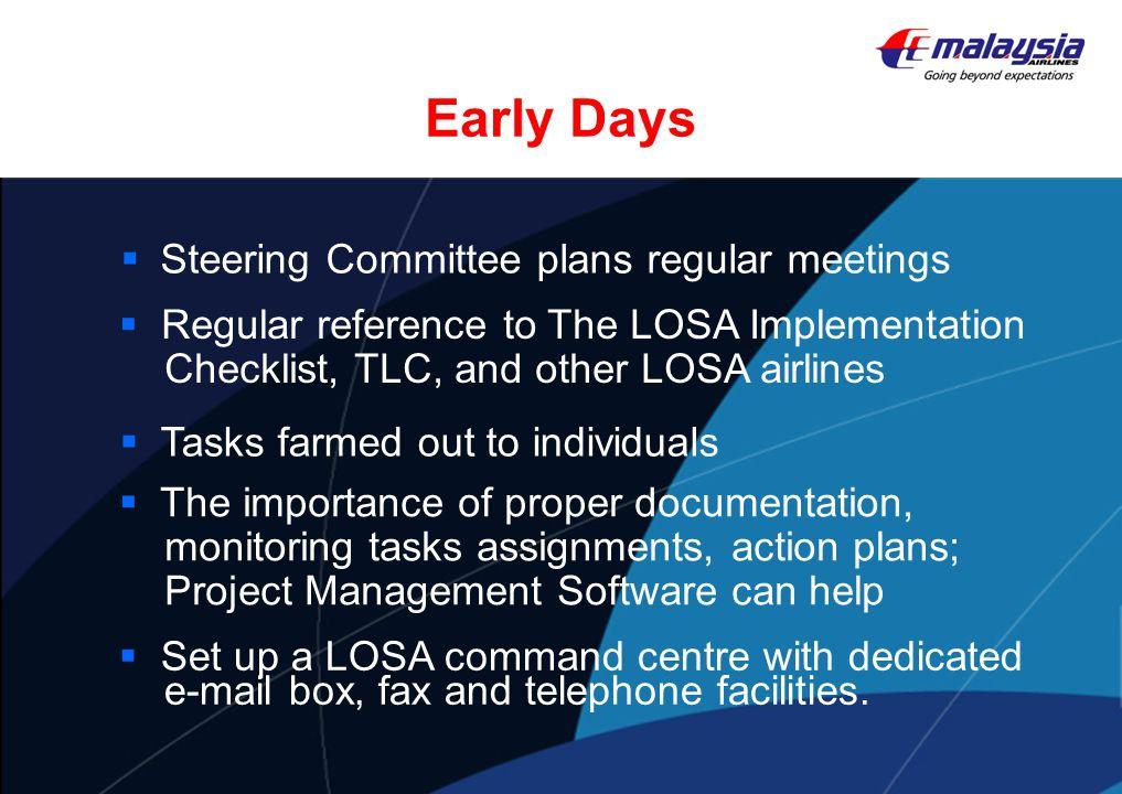 Early Days Steering Committee plans regular meetings