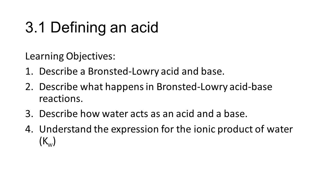 acid and bases ib