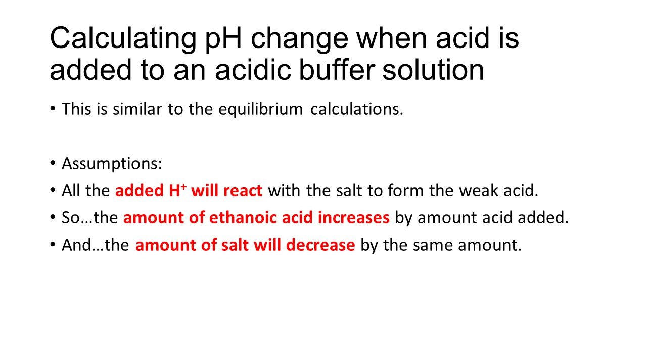 Calculating Ph Change When Acid Is Added To An Acidic Buffer Solution Do  You Know How