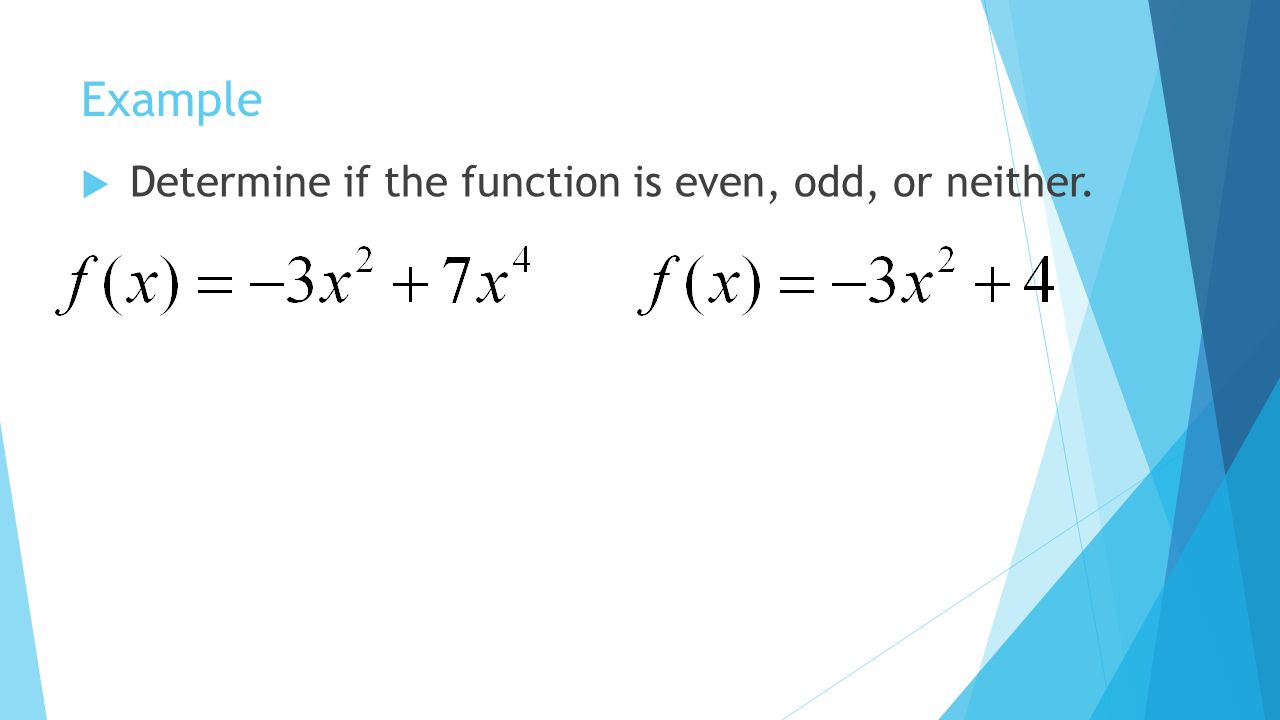 worksheet Even Or Odd Function Worksheet even and odd functions madelinemontavon cmswiki wikispaces net 23 example determine if the function is or neither