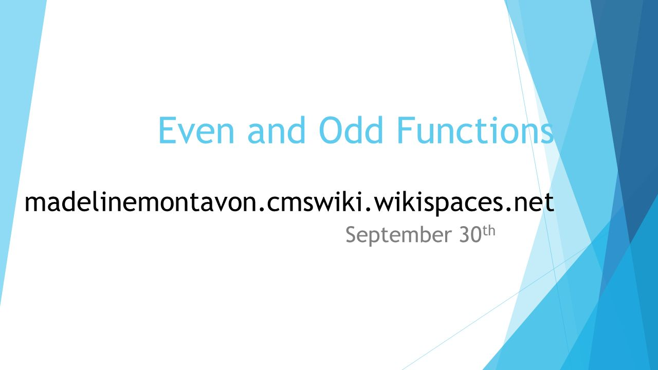worksheet Even Or Odd Function Worksheet even and odd functions madelinemontavon cmswiki wikispaces net 4 net