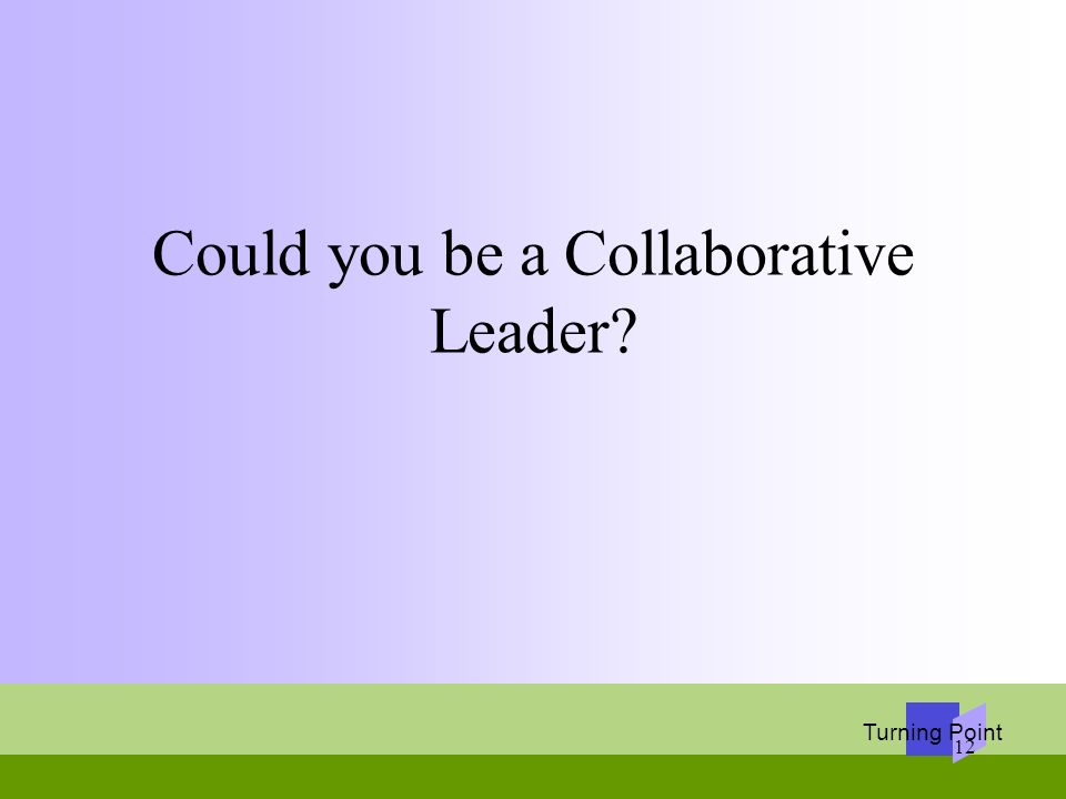 Could you be a Collaborative Leader