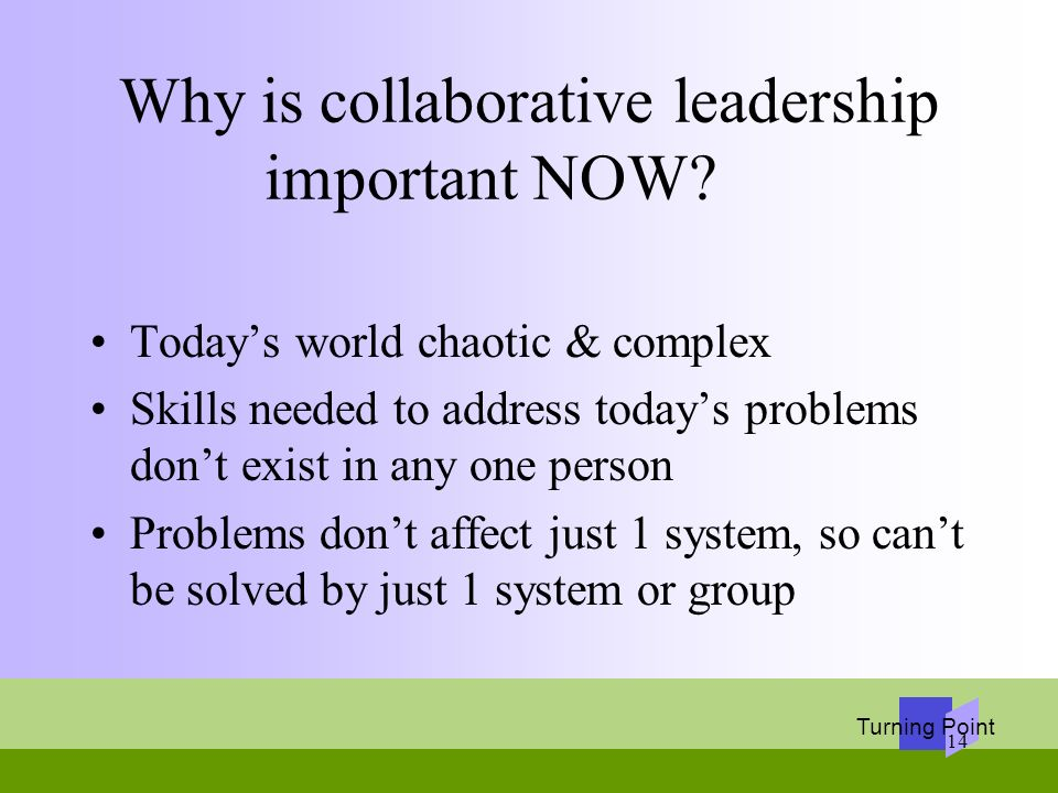 Why is collaborative leadership important NOW