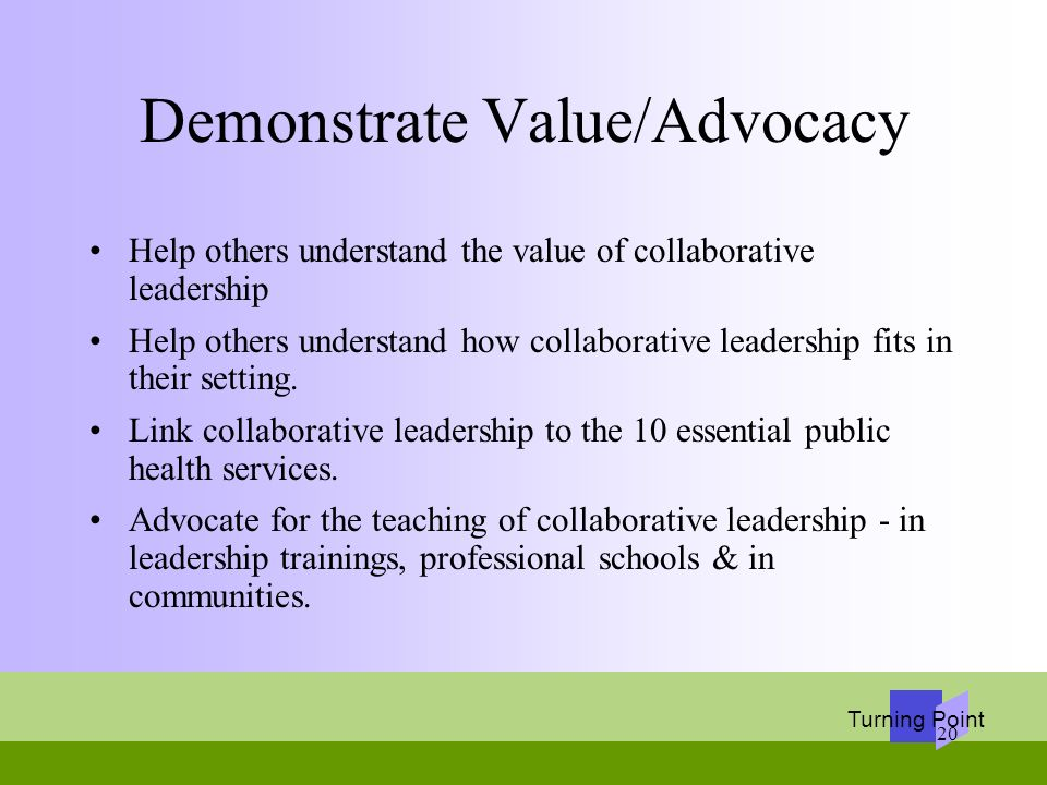 Demonstrate Value/Advocacy