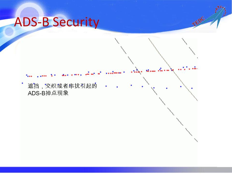 ADS-B Security 遮挡,交织或者串扰引起的ADS-B掉点现象