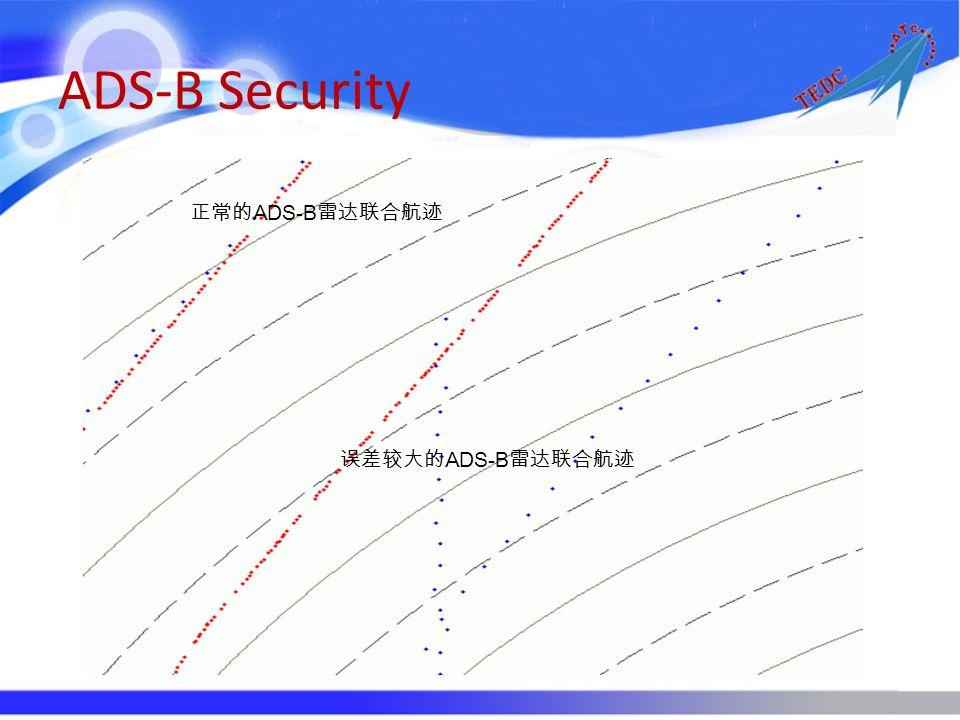 ADS-B Security 正常的ADS-B雷达联合航迹 误差较大的ADS-B雷达联合航迹