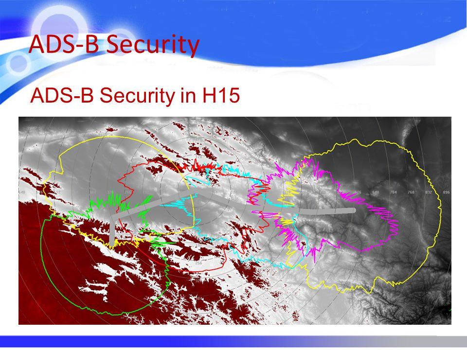 ADS-B Security ADS-B Security in H15
