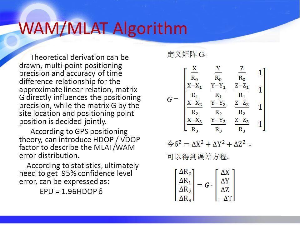 WAM/MLAT Algorithm