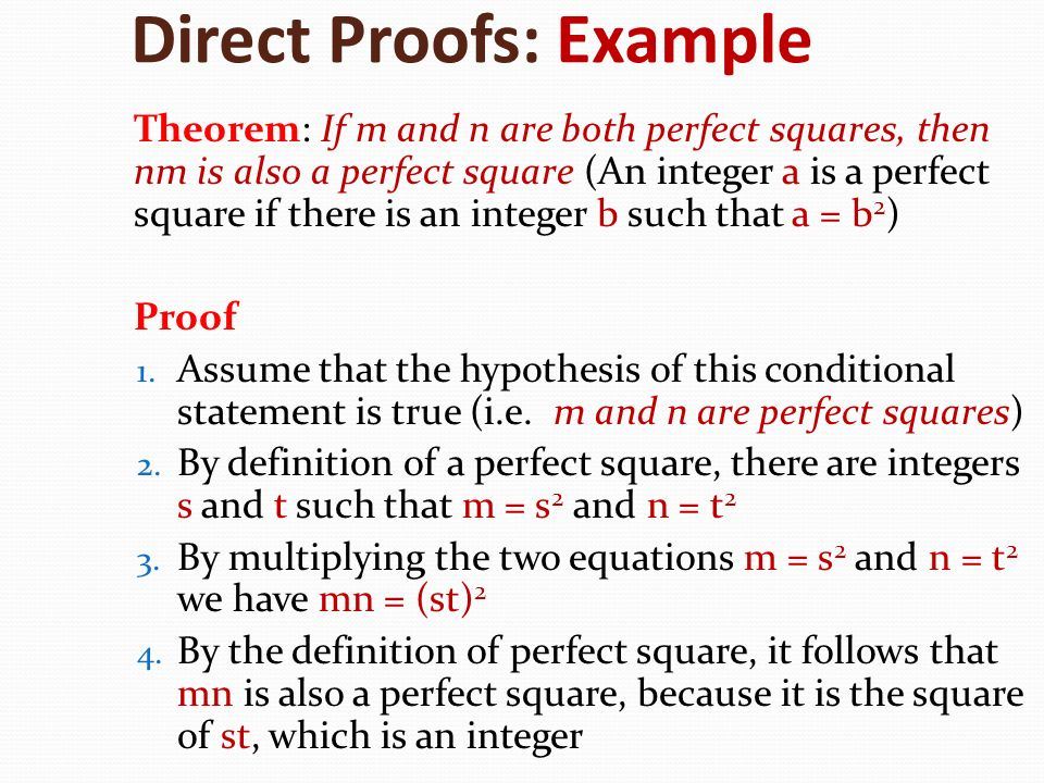 Direct Proofs: Example