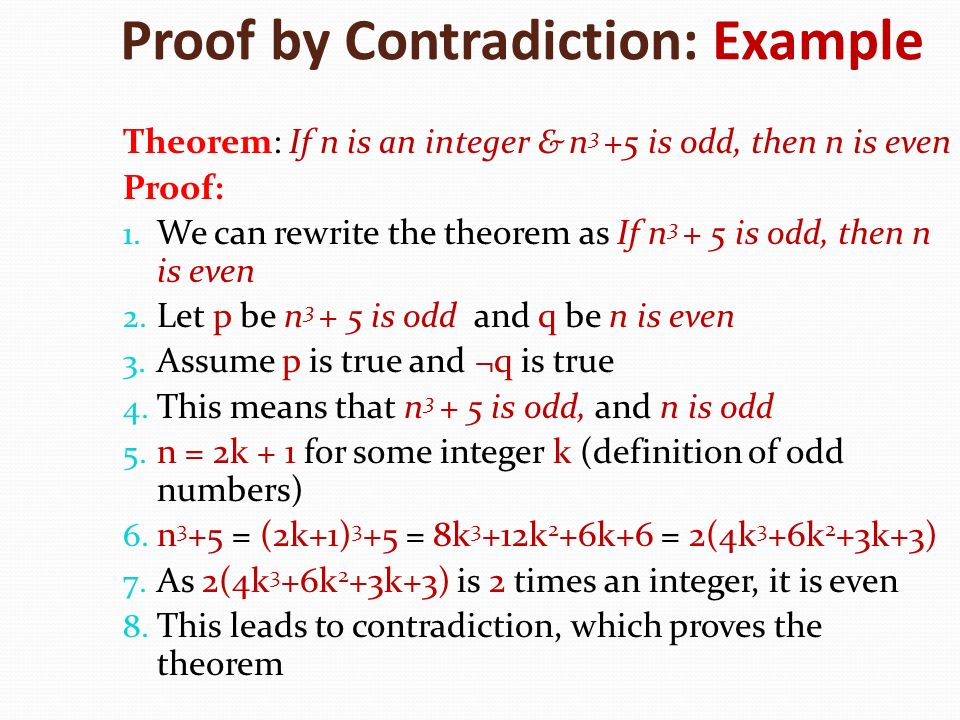 Proof by Contradiction: Example