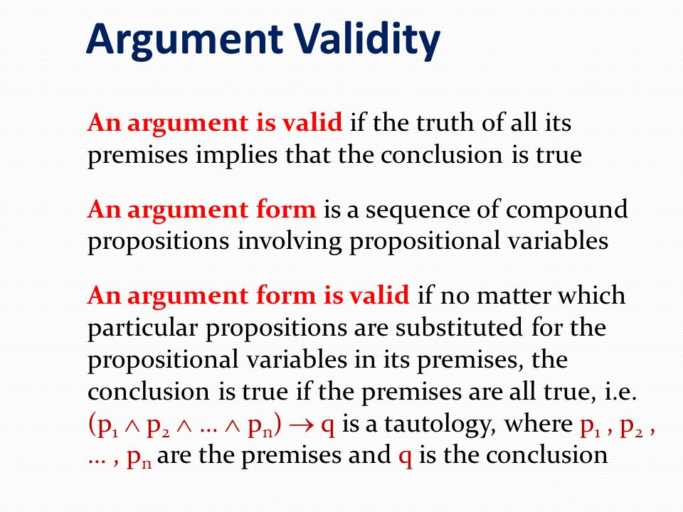 Argument Validity