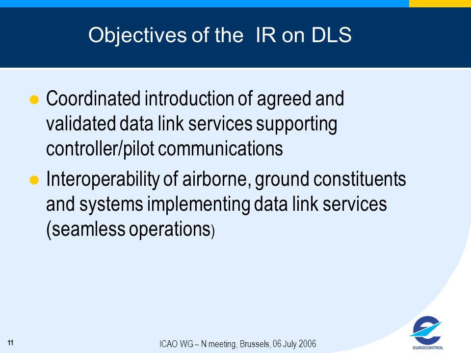 Objectives of the IR on DLS