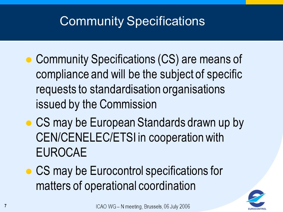 Community Specifications