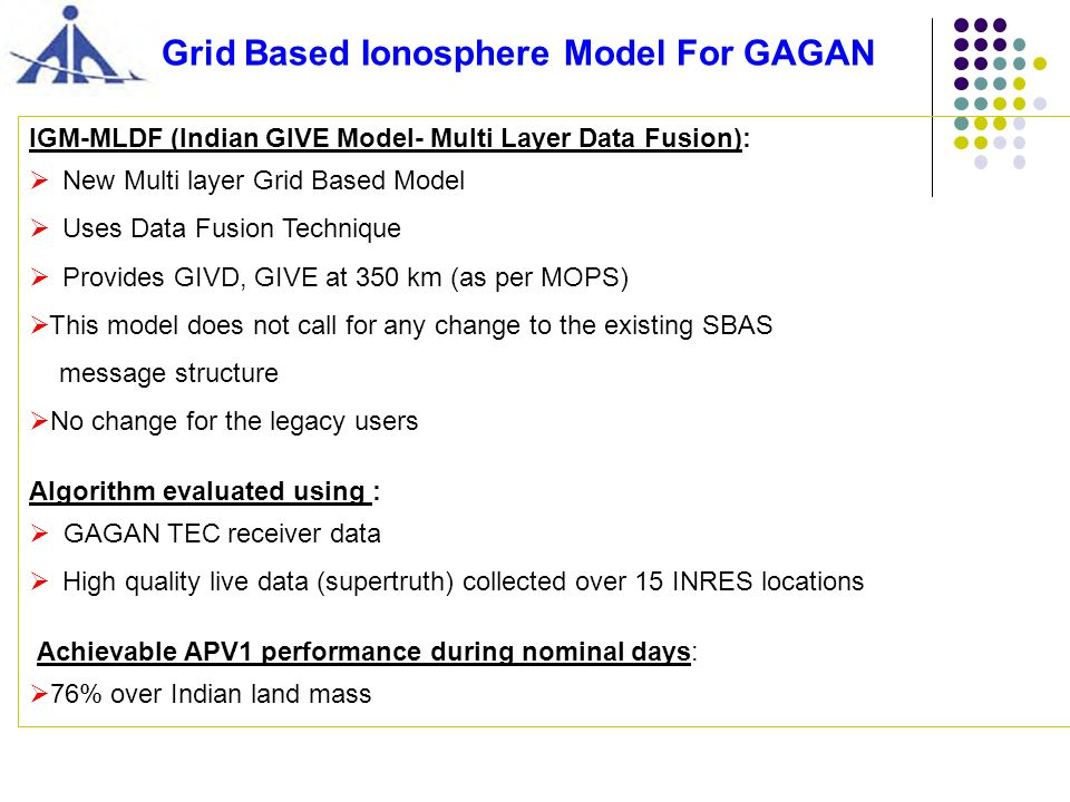 Grid Based Ionosphere Model For GAGAN