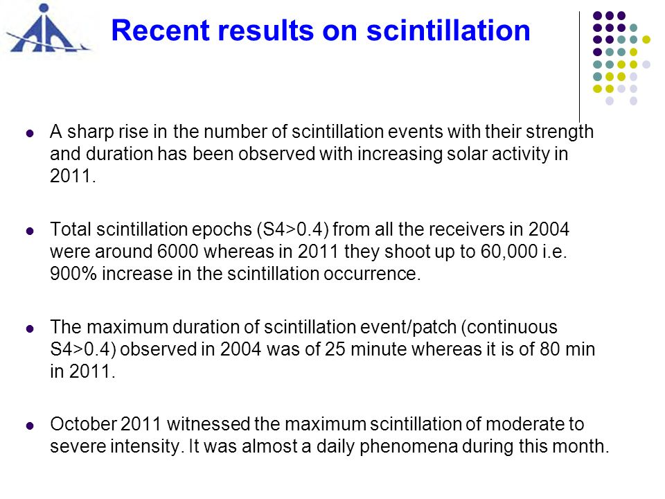 Recent results on scintillation