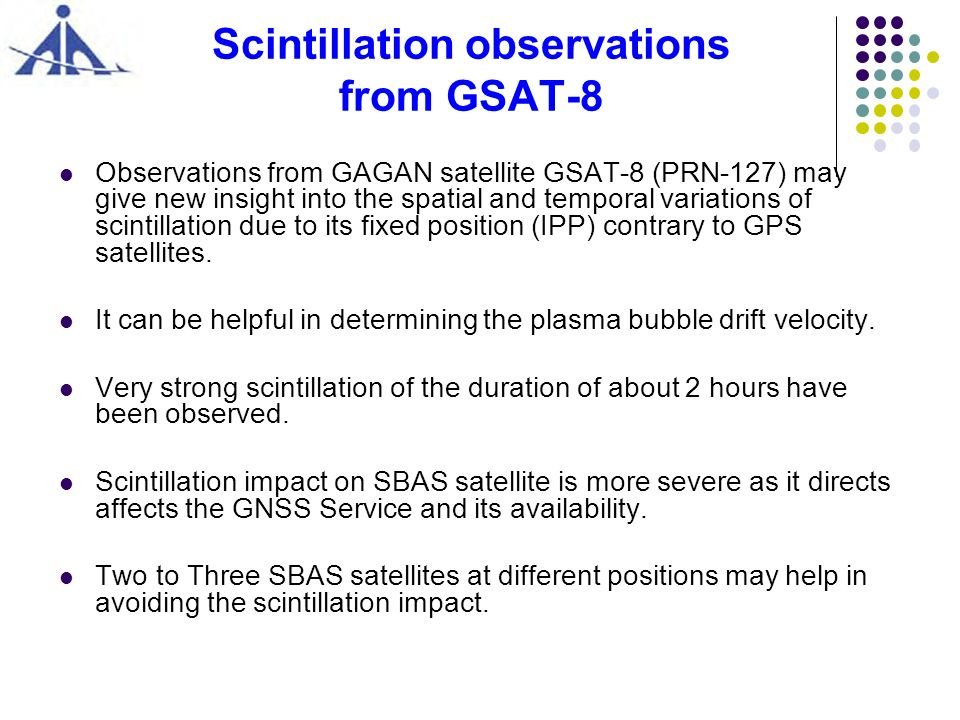 Scintillation observations from GSAT-8