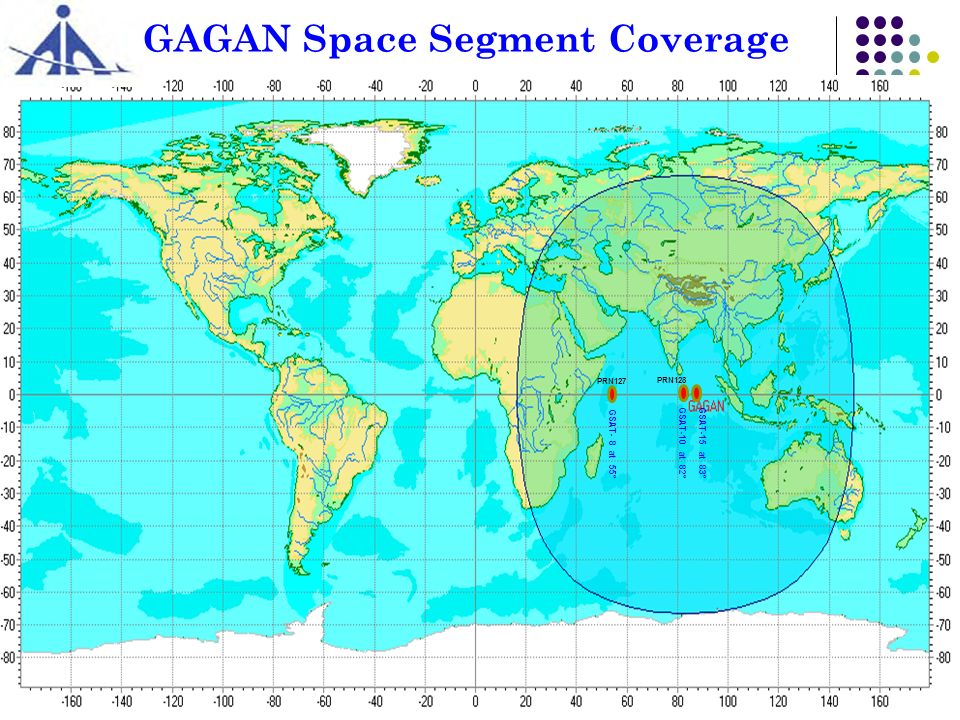 GAGAN Space Segment Coverage