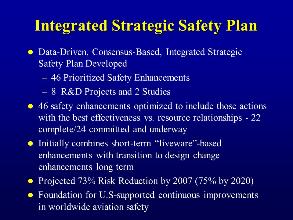 Additional Safer Skies Activities