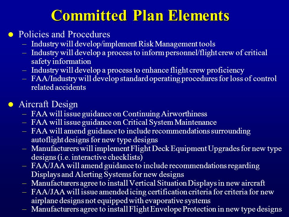 Completed Safety Enhancements (cont'd)