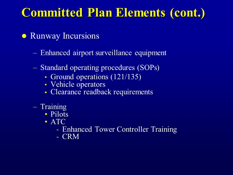 Committed Plan Elements