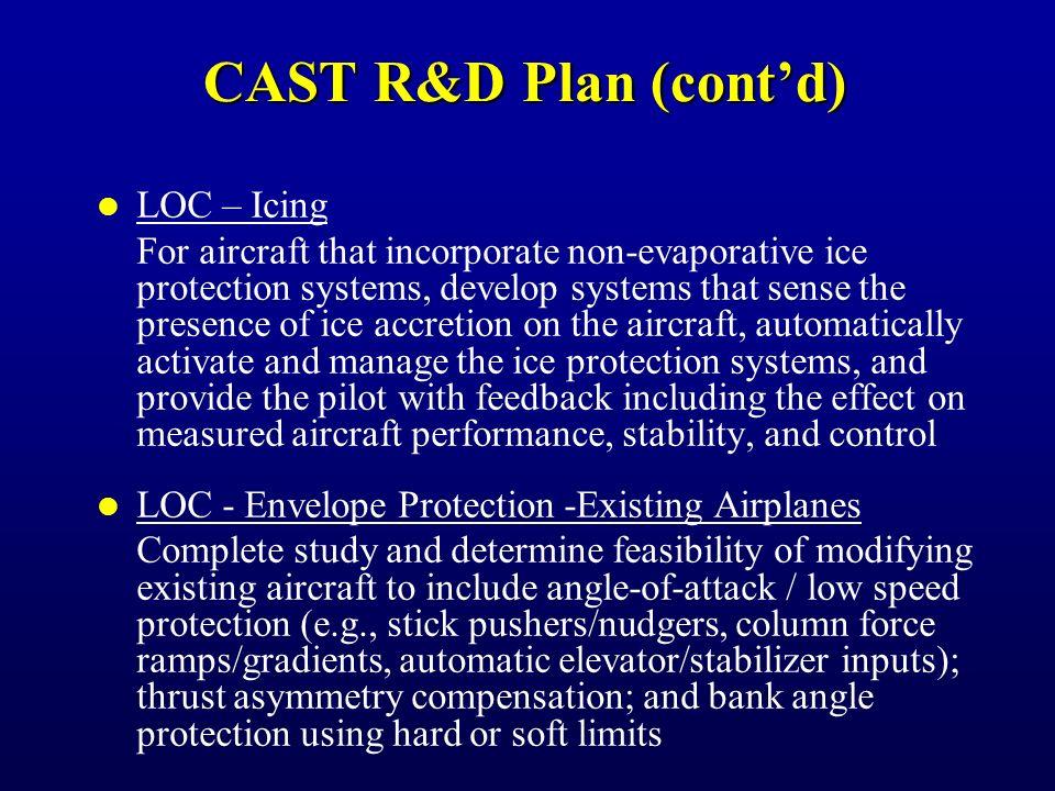 CAST R&D Plan (cont'd) CFIT Precision-Like Approach