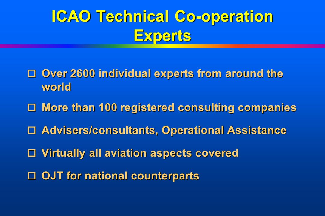 ICAO Technical Co-operation Experts