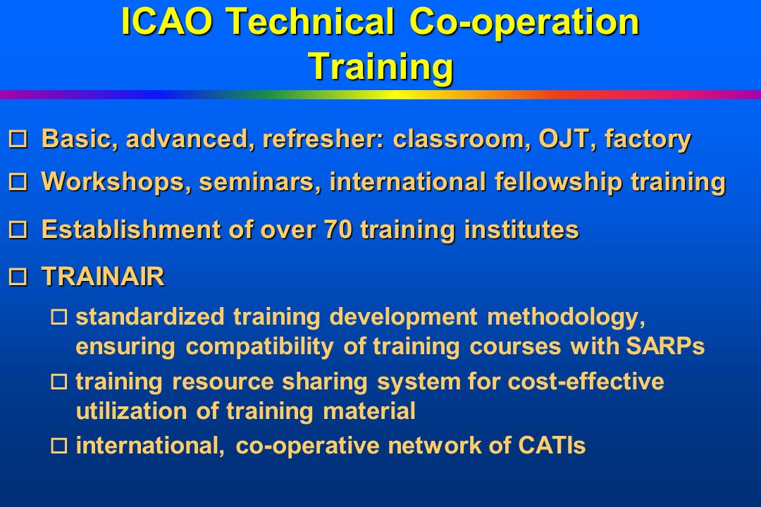 ICAO Technical Co-operation Training