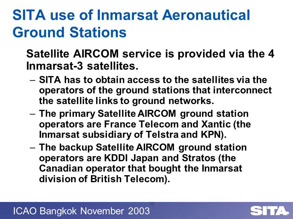 SITA use of Inmarsat Aeronautical Ground Stations