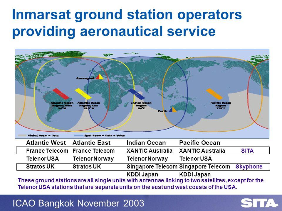 Inmarsat ground station operators providing aeronautical service