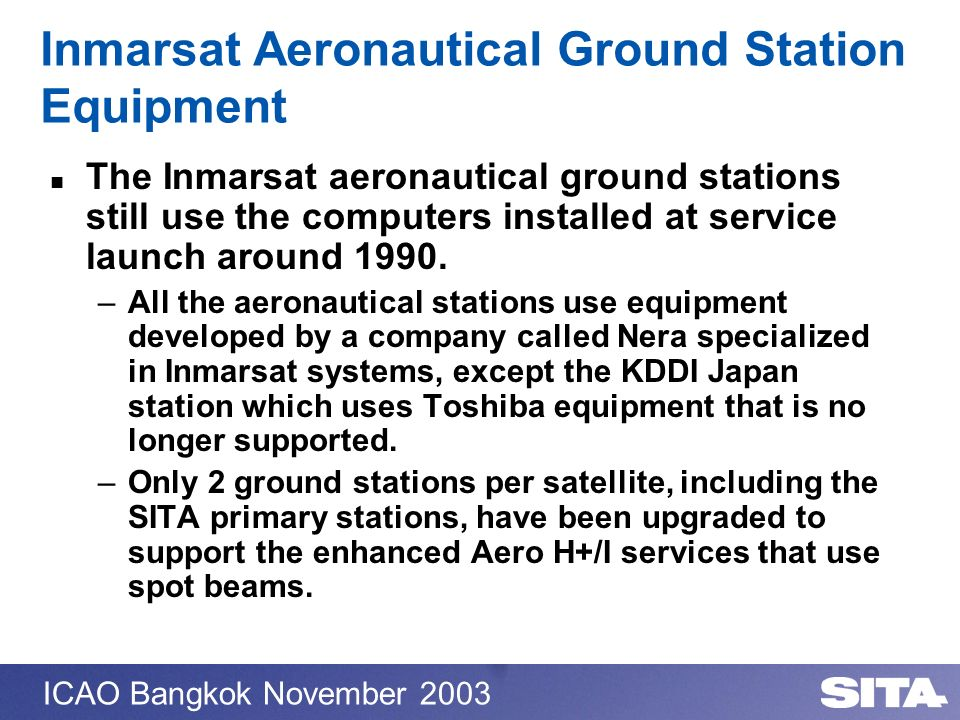 Inmarsat Aeronautical Ground Station Equipment