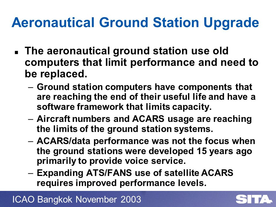 Aeronautical Ground Station Upgrade