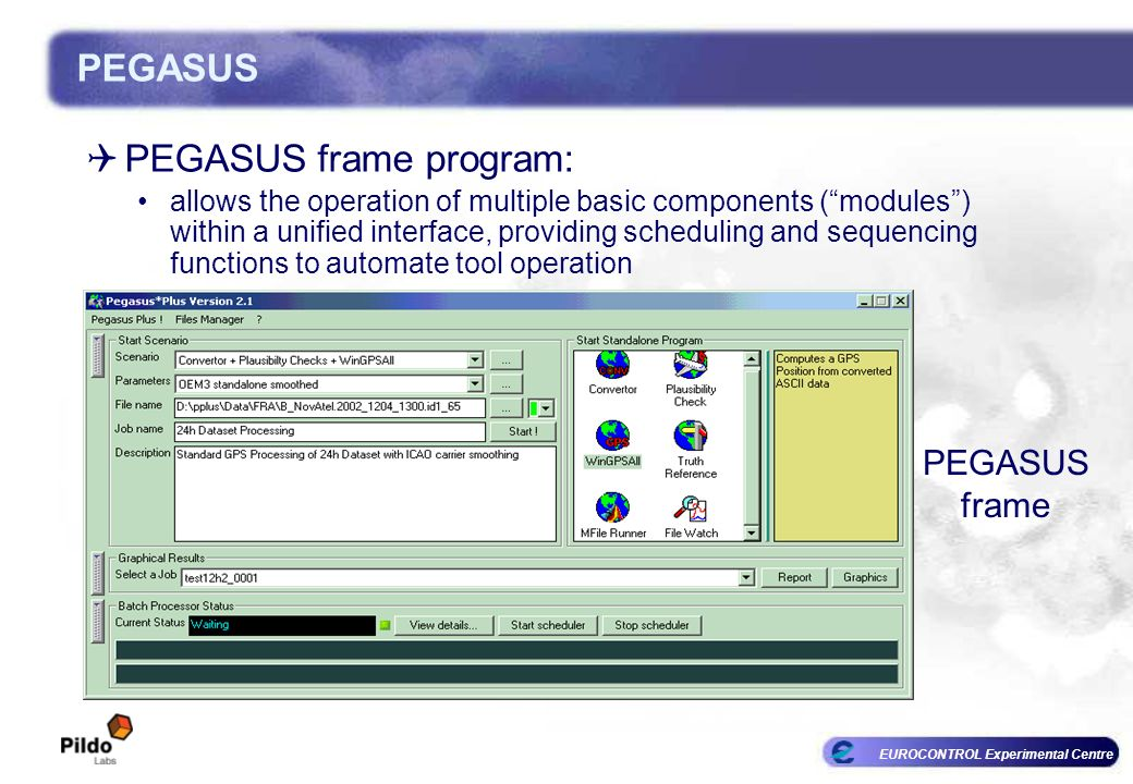 PEGASUS frame program:
