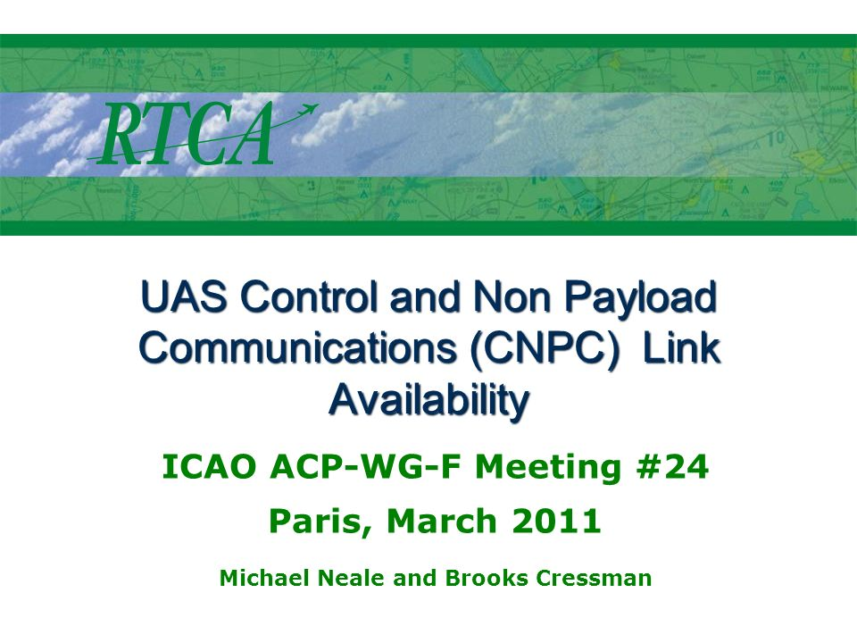 UAS Control and Non Payload Communications (CNPC) Link Availability