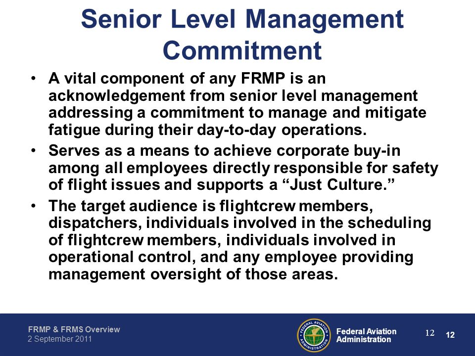 Senior Level Management Commitment